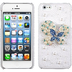 INSTEN Blue Dot/ Butterfly/ Pearl/ Diamante Phone Case for Apple iPhone 5/ 5S/ SE