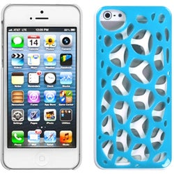 INSTEN Blue/ White Synapse Phone Case for Apple iPhone 5/ 5S/ SE