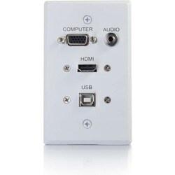 C2G HDMI, VGA, 3.5mm Audio And USB Pass Through Single Gang Wall Plat