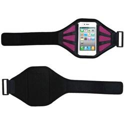 INSTEN Black/ Hot Pink Universal Vertical Sport Armband Phone Case Cover