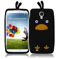 INSTEN Duck 3D Rubber Soft Silicone Soft Skin Gel Phone Case Cover for Samsung Galaxy S4 LTE/ S4