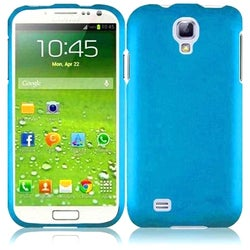 INSTEN Blue Rubberized Matte Hard Plastic Snap-on Phone Case Cover for Samsung Galaxy S4 LTE/ S4