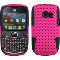 INSTEN Hot Pink/ Black Astronoot Phone Case Cover for Huawei Pinnacle 2 M636