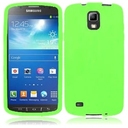 INSTEN Premium Green Rubber Soft Silicone Soft Skin Gel Phone Case Cover for Samsung Galaxy S4 Active