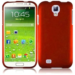 INSTEN Orange Rubberized Hard Plastic Snap-on Phone Case Cover for Samsung Galaxy S4 LTE/ S4