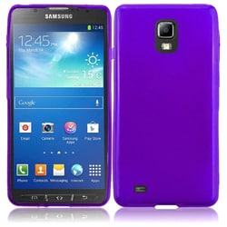 INSTEN Premium Purple Frosted TPU Rubber Candy Skin Phone Case Cover for Samsung Galaxy S4 Active