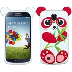 INSTEN Red/ White Panda Pastel Skin Phone Case Cover for Samsung Galaxy S4 I337