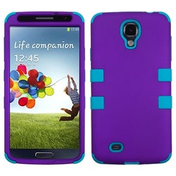 INSTEN Rubberized Grape/ Tropical Teal TUFF Phone Case Cover for Samsung Galaxy S4