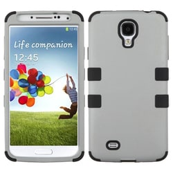 INSTEN Rubberized Grey/ Black TUFF Phone Case Cover for Samsung Galaxy S4