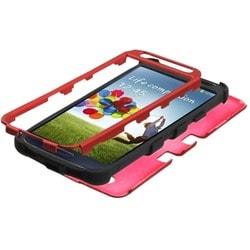 INSTEN Titanium Red/ Black TUFF Hybrid Phone Case Cover for Samsung Galaxy S4
