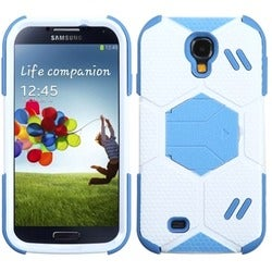 INSTEN White/ Baby Blue Goalkeeper Phone Case Cover for Samsung Galaxy S4 I337
