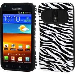 INSTEN Zebra Skin/ Black Back Phone Case Cover for Samsung Galaxy S II R760/ 4G