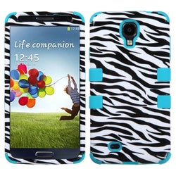 INSTEN Zebra Skin/ Tropical Teal TUFF Phone Case Cover for Samsung Galaxy S4 I337