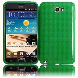 INSTEN Neon Green TPU Rubber Candy Skin Phone Case Cover for Samsung Galaxy Note 1st Generation/ Note LTE