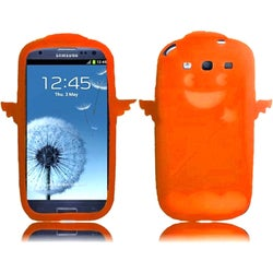INSTEN Orange Devil & Angel 3D Rubber Soft Silicone Soft Skin Gel Phone Case Cover for Samsung Galaxy S3