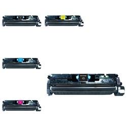 INSTEN HP C9700A/ Q3960A/ CLJ1500 5-ink Cartridge Set