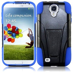 INSTEN T-Stand Dual Layer Hybrid Stand PC Soft Silicone Phone Case Cover for Samsung Galaxy S4 LTE versio
