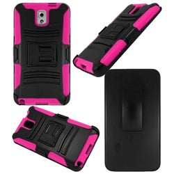 INSTEN Advanced Armor Dual Layer Hybrid Stand PC Soft Silicone Holster with Phone Case Cover for Samsung Galaxy Note 3
