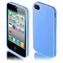 INSTEN Blue TPU Rubber Candy Skin Phone Case Cover for Apple iPhone 4/ 4S