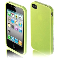 INSTEN Green TPU Rubber Candy Skin Phone Case Cover for Apple iPhone 4/ 4S