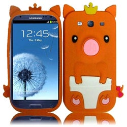 INSTEN Orange Pig 3D Rubber Soft Silicone Soft Skin Gel Phone Case Cover for Samsung Galaxy S3/ S III GT-