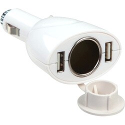 INSTEN Dual USB Car Charger Adapter - White