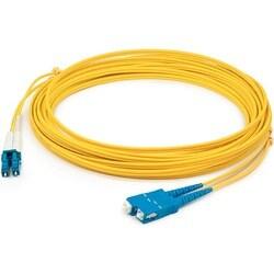 AddOn 15m Single-Mode Fiber (SMF) Duplex SC/SC OS1 Yellow Patch Cable