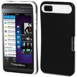 INSTEN Black/ White Card Wallet Back Phone Case Cover for Blackberry Z10