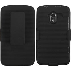 INSTEN Black Hybrid Holster for ZTE N9120 Avid 4G