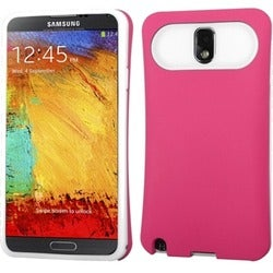 INSTEN Hot Pink/ White Wallet Phone Case Cover for Samsung N900A Galaxy Note 3