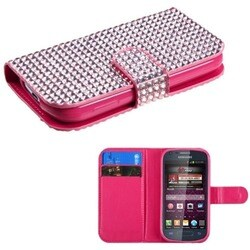 INSTEN Pink Book-Style Wallet for Samsung M840 Galaxy Ring