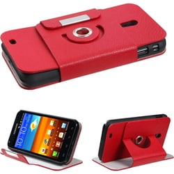 INSTEN Red Wallet-Style Phone Case Cover for Samsung R760 Galaxy S II