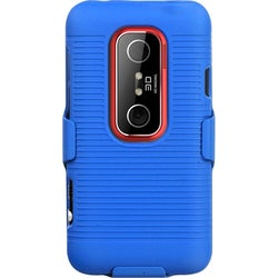 INSTEN Blue Hybrid Holster for HTC EVO 3D/ EVO V 4G