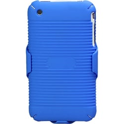 INSTEN Rubberized Blue Hybrid Holster for Apple iPhone 3G/ 3GS