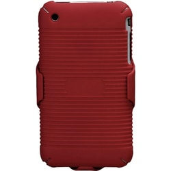 INSTEN Rubberized Red Hybrid Holster for Apple iPhone 3G/ 3GS