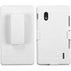 INSTEN Ivory White Hybrid Holster for LG E970 Optimus G
