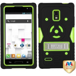 INSTEN Green/ Black TUFF eNUFF Hybrid Phone Case Cover for LG P769 Optimus L9