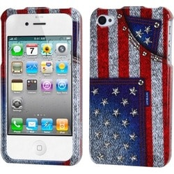 INSTEN American-jeans Slim Snap-on Phone Case Cover with Studs for Apple iSlim Snap-on Phone 4/ 4S