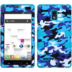 INSTEN Aquatic Camouflage/ Teal TUFF Phone Case Cover for LG P769 Optimus L9