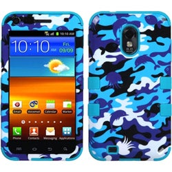 INSTEN Aquatic Camouflage/ Teal TUFF Phone Case Cover for Samsung R760 Galaxy S II