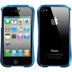 INSTEN Baby Blue/ Chrome Nitro Surround Shield for Apple iPhone 4S/ 4