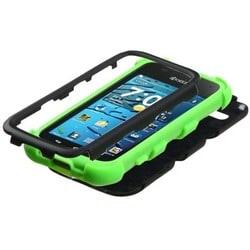 INSTEN Black/ Electric Green TUFF Hybrid Phone Case Cover for Kyocera Hydro Edge