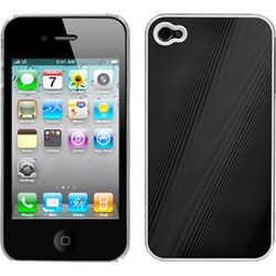 INSTEN Black/ Cosmo Phone Case Cover for Apple iPhone 4S/ 4