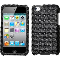 INSTEN Black Diamante iPod Case Cover for Apple iPod Touch Generation 4