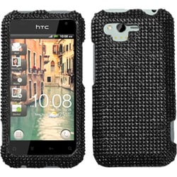 INSTEN Black/ Diamante Phone Case Cover for HTC ADR6330 Rhyme
