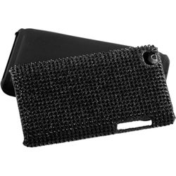 INSTEN Black/ Diamante Fusion iPod Case Cover for Apple iPod touch 4