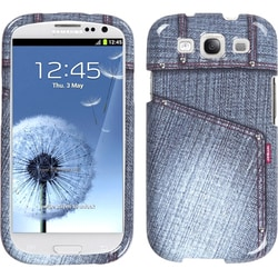 INSTEN Black Jeans/ Studs Phone Case Cover for Samsung Galaxy S III i747/ L710