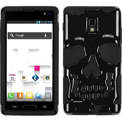 INSTEN Black Skullcap Hybrid Phone Case Cover for LG P769 Optimus L9
