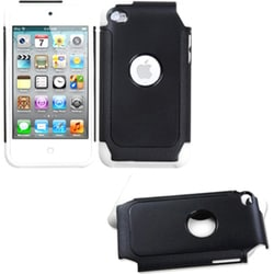 INSTEN Black/ White Dual Layer Hybrid iPod Case Cover for Apple iPod Touch 4/ 4G