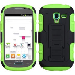 INSTEN Black/ Green Phone Case Cover with Stand for Samsung Galaxy T599 Exhibit